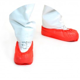 Disposable Plastic Shoe Covers PP Red (100 Units)