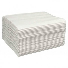 Disposable Spunlace Towel for Manicure Pedicure White 30x40cm 50g/m² (100 Units)