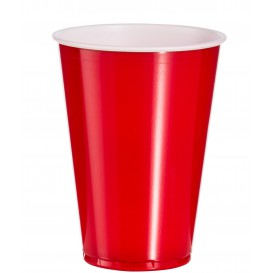 Plastic Cup PS Red American Party 10 Oz/300ml (100 Units)