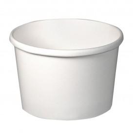 Paper Container White 8Oz/237ml Ø9,1cm (25 Units)