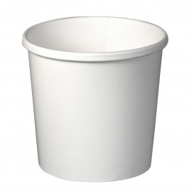 Paper Container White 12Oz/355ml Ø9,1cm (25 Units)