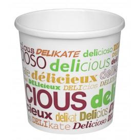 """Paper Soup Bowl """"Delicius"""" 12Oz/355ml Ø9,1cm (25 Units)"""