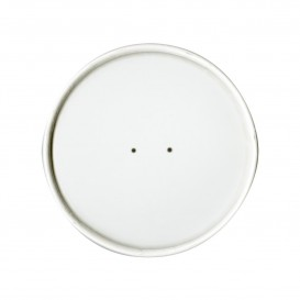 Paper Lid Flat White Ø9,1cm (25 Units)