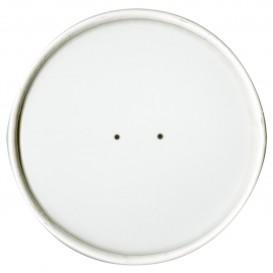 Paper Lid Flat White Ø11,7cm (25 Units)