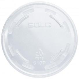 Plastic Lid PET Crystal Flat Ø7,8cm (100 Units)