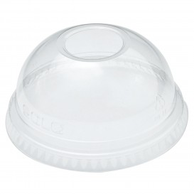 Plastic Dome Lid with Hole PET Crystal Ø7,8cm (1000 Units)