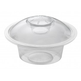 "Plastic Deli Container 375ml + Plastic Lid ""Press&Dress"" + Portion Cup (150 Packs)"