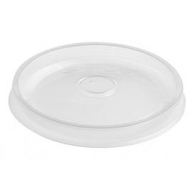 Plastic Lid PP Flat Translucent Ø9,1cm (500 Units)