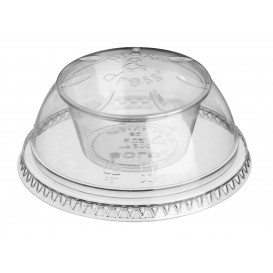 "Plastic Lid with Portion Cup PET Crystal ""Press&Dress"" Ø9,2cm (500 Units)"