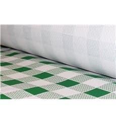 Mantel de Papel Rollo Cuadros Verdes 1x100m. 40g (1 Ud)