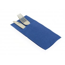 "Pocket Fold Airlaid Napkins ""Kanguro"" Blue 40x40cm (30 Units)"