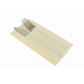 "Pocket Fold Airlaid Napkins ""Kanguro"" Cream 40x40cm (30 Units)"