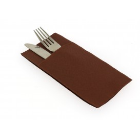"Pocket Fold Airlaid Napkins ""Kanguro"" Brown 40x40cm (480 Units)"