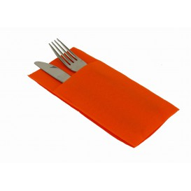 "Pocket Fold Airlaid Napkins ""Kanguro"" Orange 40x40cm (30 Units)"