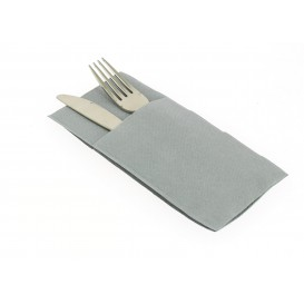 "Pocket Fold Airlaid Napkins ""Kanguro"" Grey 40x40cm (30 Units)"