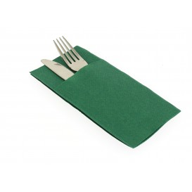 "Pocket Fold Airlaid Napkins ""Kanguro"" Green 40x40cm (480 Units)"