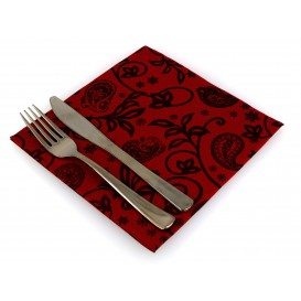 "Airlaid Napkins ""Cachemir"" Burgundy 40x40cm (50 Units)"