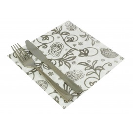 "Airlaid Napkins ""Cachemir"" White 40x40cm (50 Units)"