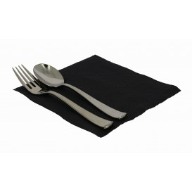 Paper Napkin Black 33x33cm 1 Layer (70 Units)