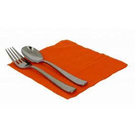 Paper Napkin Orange 33x33cm 1 Layer (70 Units)