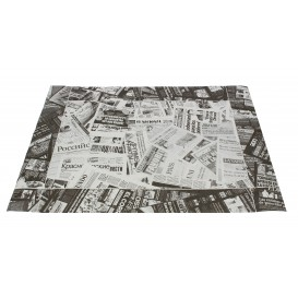 "Paper Placemats 30x40cm ""Prensa"" Black 50g (2500 Units)"