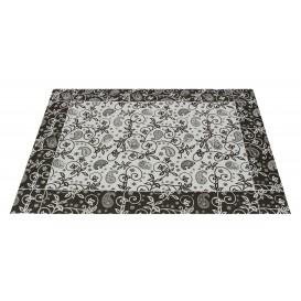 """Paper Placemats 30x40cm """"Cachemir"""" Black 50g (500 Units)"""