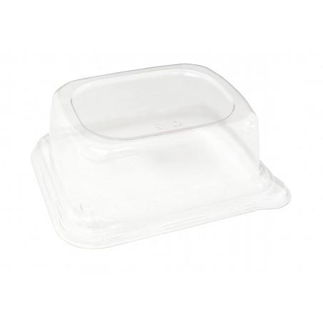 Tapa PET para Envase Caña de Azúcar 14x14cm (300 Uds)