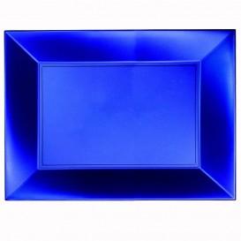 "Plastic Tray Microwavable Blue ""Nice"" 34,5x23cm (60 Units)"