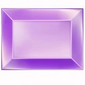 "Plastic Tray Microwavable Violet ""Nice"" 34,5x23cm (60 Units)"