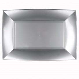 "Plastic Tray Microwavable Grey ""Nice"" 34,5x23cm (60 Units)"