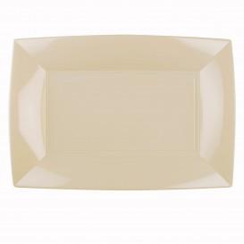 "Plastic Tray Microwavable Cream ""Nice"" 34,5x23cm (6 Units)"