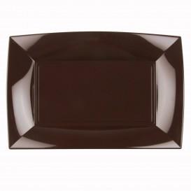 "Plastic Tray Microwavable Brown ""Nice"" 34,5x23cm (6 Units)"