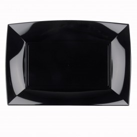 """Plastic Tray Microwavable Black """"Nice"""" 34,5x23cm (60 Units)"""