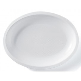 Plastic Platter Microwavable Oval Shape White 31,5x22 cm (25 Units)