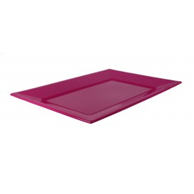 Plastic Tray Fuchsia 33x22,5cm (3 Units)
