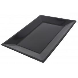 Plastic Tray Black 33x22,5cm (25 Units)