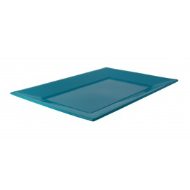 Plastic Tray Turquoise 33x22,5cm (25 Units)