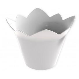 """Tasting Plastic Bowl PS """"Nenufar"""" White 70 ml (25 Units)"""