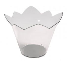 "Tasting Plastic Bowl PS ""Nenufar"" Clear 70 ml (25 Units)"