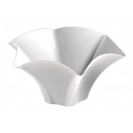 "Tasting Plastic Bowl PS ""Petunia"" White 70 ml (500 Units)"