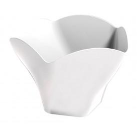 """Tasting Plastic Bowl PS """"Rosa"""" White 90 ml (25 Units)"""