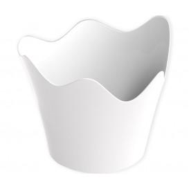 """Tasting Plastic Bowl PS """"Rain"""" White 90 ml (25 Units)"""