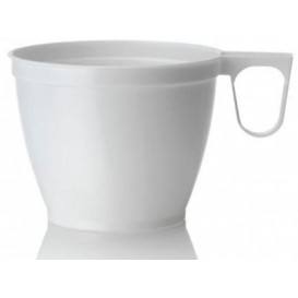 Plastic Cup White 180ml (50 Units)