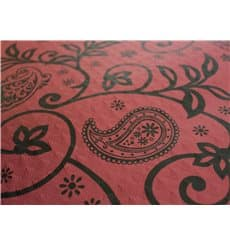 "Pre-Cut Paper Tablecloth 1x1m ""Cachemir"" Burgundy 37g 1x1m (400 Units)"