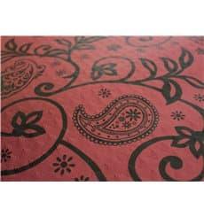 "Pre-Cut Paper Tablecloth 1x1m ""Cachemir"" Burgundy 37g 1x1m"