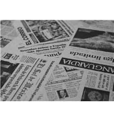 "Pre-Cut Paper Tablecloth 1x1m White ""Prensa"" 37g 1x1m"