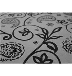 "Pre-Cut Paper Tablecloth ""Cachemir"" Black 37g 1x1m (400 Units)"