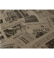 "Pre-Cut Paper Tablecloth 1x1m Kraft ""Prensa"" 37g 1x1m"