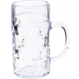 Plastic Tankard Reusable SAN Ø105mm 1000ml (6 Units)