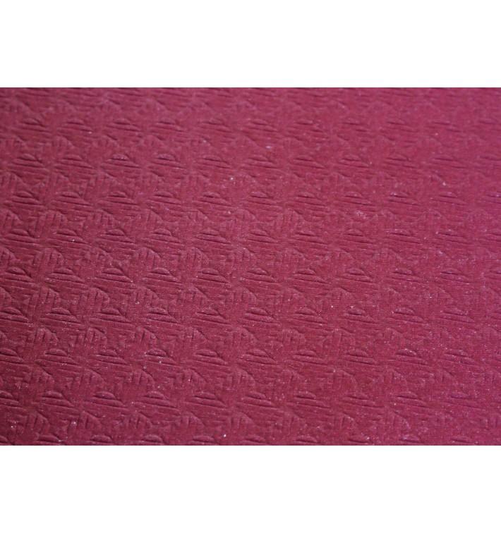 Pre-Cut Paper Tablecloth Burgundy 40g 1x1m (400 Units)